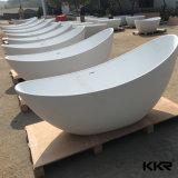 Bañeras libres ovales modernas superficiales sólidas