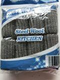 Lanas de acero de la cocina del estropajo de lanas de acero