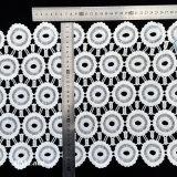 큰 꽃 원형 레이스 5개의 층 면 트리밍, 넓은 백색 난초 분지 리본 L174