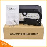 LED impermeable de la luz del sensor de movimiento de Energía Solar Jardín muro de seguridad de la luz de noche