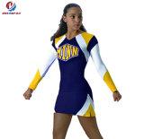 Coutume plus la vente en gros sexy uniforme de long de chemises de taille Cheerleading d'impression
