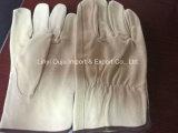 Перчатка водителя заварки кожаный безопасности 10.5 дюймов работая
