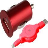 Один порт USB автомобильное зарядное устройство с выдвижным фги кабель от воздействий молнии