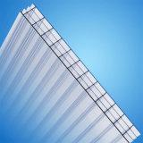Hoja protegida ULTRAVIOLETA antiniebla del policarbonato de la depresión de la Cuatro-Pared para el material para techos