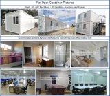 Le camp de travail de conteneur préfabriqué de paquet plat/a préfabriqué les maisons modulaires de conteneur/cabine modulaire de conteneur