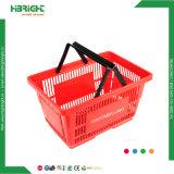 Flexible en plastique rose de supermarchés des paniers à provision