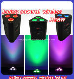 3X10W 4n1 RGBW/RGBA питание от батареи и индикатор беспроводной связи PAR лампа