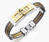 Armband 3 van mensen Juwelen van de Mensen van de Armband van de Muur van het Roestvrij staal van de Manier van de Armbanden van de Armbanden van de Ketting van de Draad van Rijen de Punk Grote