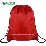 Cheap monochromatique poche frontale à fermeture éclair sac à dos Sac avec lacet de serrage