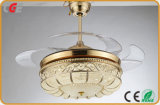 미국 시장 팬 등화관제 제광기 스위치를 위한 로터스 모양 전등갓을%s 가진 52 인치 천장 선풍기 빛