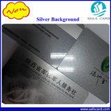 Tarjetas numeradas de plata de la identificación que graban