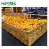 Les peuplements à bas prix du bois de fruits et légumes de supermarchés de présentoir