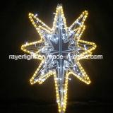3-D 1m LEIDENE Lichten van de Poolster voor de Decoratie van de Vakantie