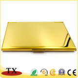 O ouro o titular do cartão de negócios de aço inoxidável para presentes