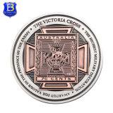 3D切られた穴(Ele-C220)が付いている旧式な真鍮のコレクションの記念品の硬貨