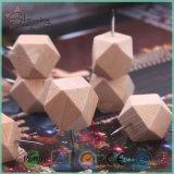 14 pointes de pouce en bois de Pin de poussée de couleurs en bois de Facted seules