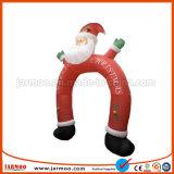 Comercio al por mayor publicidad de cualquier color de Navidad inflable arco