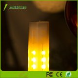 bombilla del fuego de la naturaleza de la lámpara 1700K de la llama de la bombilla 12V LED del efecto de fuego de 2W que oscila G4 LED para la Navidad