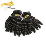 インドの卸し売り毛のバージンのインドの深いねじれたカーリーヘアー