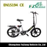 중국어 브레이크 레버를 가진 20 인치 소형 전기 자전거