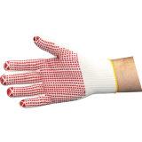 Cer genehmigte Kurbelgehäuse-Belüftung punktierte Baumwollsicherheits-Handschuhe für mechanische Arbeit