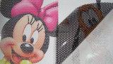 Impresión personalizada de una manera de ver a través de la visión/PVC/Custom impermeables impresión Lámina perforada de visión unidireccional