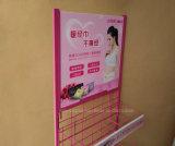 Crémaillère d'étalage de fer de rose de constructeur de la Chine pour l'essuie-main sanitaire