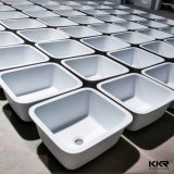 A Kkr Superfície sólida Quadrado Preto Undermount pia de cozinha (171206)