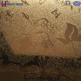 Цвет листа из нержавеющей стали зеркала заднего вида элеватора соломы золото для вентиляции салона отеля