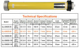 Motor tubular Dg35-45-N-W del obturador eléctrico del rodillo)
