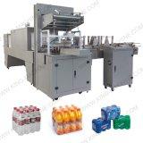 Machine automatique de Warpping de film de rétrécissement de PE pour la bouteille d'animal familier de bouteille en verre