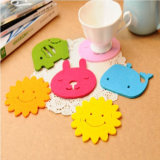 Fluffy Colorfurl Felt Coaster Felt Animal Coasters