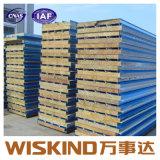 Paneles sándwich de lana de vidrio para la construcción de almacén con ISO9001