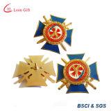 Personalizado de la fábrica de esmalte de oro de la empresa insignia metálica Prendedores