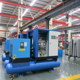 5.5~37 Kilowatt-ölverschmutzter Schrauben-Luftverdichter mit Luft-Empfänger-Trockner, Filter