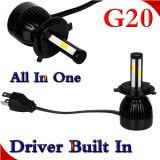 De Dubbele van de Kleur Boorin L5 G20 LEIDENE van Matec & 12V 24V 40W 8000lm Koplamp van de Motorfiets voor AutoDeel