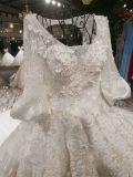 호화스러운 무도회복 열쇠구멍 뒤 2m 왕 트레인 웨딩 드레스