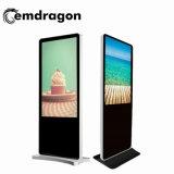 고품질 움직일 수 있는 광고 전시 화면 센서 전시를 가진 32 인치 지면 대 광고 선수