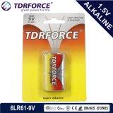 Mercury&Cadmium自由な中国の工場超アルカリ電池(9V/9 VOLT/6LR61)