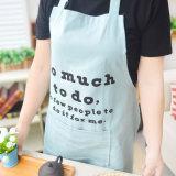 Lienzo de algodón Correa para cuello ajustable delantal de cocina con diseño personalizado