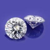 은 반지를 위한 1CT 6.5mm 둥근 커트 Vvs Moissanite 돌