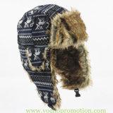 Шлем Trapper Ushanka шерсти Faux горячего сбывания акриловый связанный русский