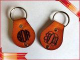 Trousseau de clés promotionnel de cadeau de porte-clés en cuir de qualité