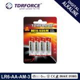 Manufatura alcalina da bateria seca de Digitas do tamanho Lr6-AA-Am3