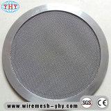 Filtro Filtro de membrana de la ronda de malla de alambre