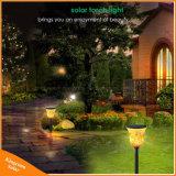 lámpara solar al aire libre del césped de las antorchas de las luces de las llamas que oscila 96LED