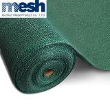 Red de seguridad hecha punto HDPE de color verde oscuro del andamio de la construcción/red de la cortina de Sun