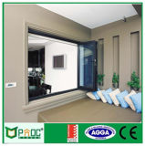 Ventana plegable de aluminio de Pnoc080911ls usada para el cuarto de baño