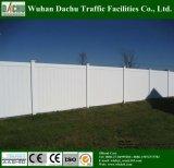 Cerca blanca de la yarda del PVC del color