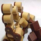 Brinquedos Chain de madeira do enigma do fechamento do jogo 3D da provocação do cérebro da inteligência das crianças para os miúdos adultos